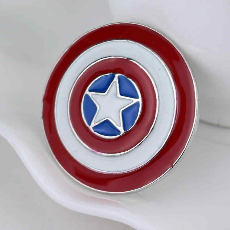 SG Kualitas Tinggi Kapten Amerika Bros Thor Flash Superman Deadpool Avengers Thanos Masker Pin Pria Mantel Perhiasan
