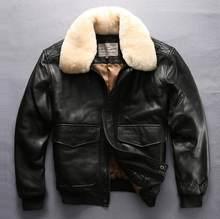 9d4dd8b3 Fly flight renaissance стимпанк куртка-бомбер из овечьей кожи тонкая  меховая одежда пилот кожаная куртка Мужская mortorcycle бле.