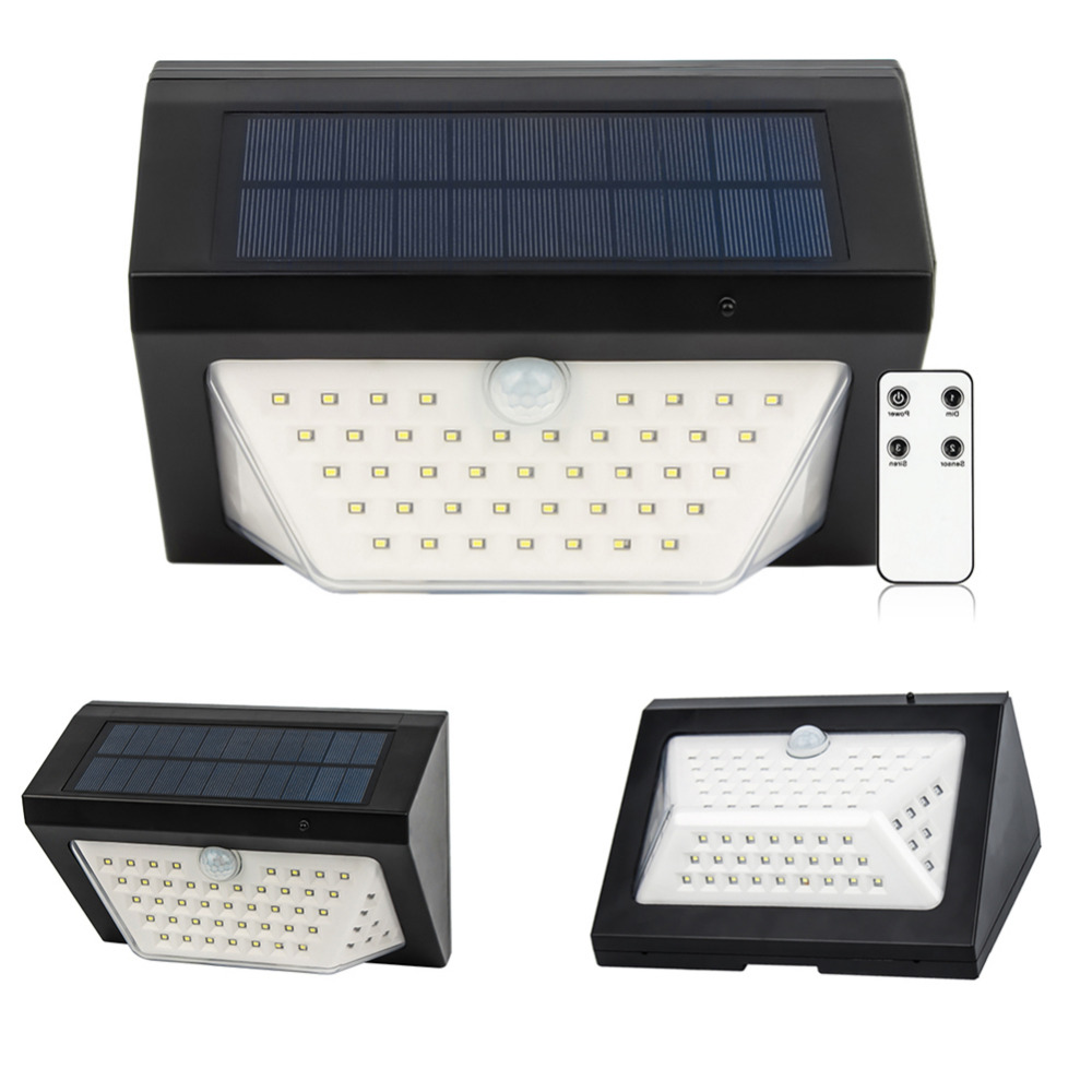 80 LED Solar Light 3 Modes Rechargeable Wireless Remote Control Solar Light Alarm Lamps Solar Garden Wall Light Lamp