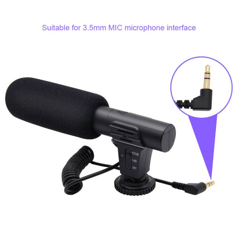 MIC-05 Professional Interview Microphone Hypercardioid Camera Video Outdoor PC Recording Hifi HD Sound 3.5mm Jack Microphone Mic