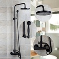 Best Price Bathroom Shower set Black Finished Rainfall Shower Mixer With the Hand Shower