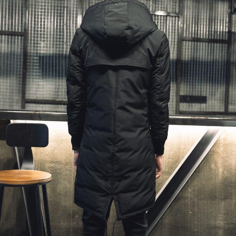 TEAEGG 2019 зимняя мужская куртка с хлопковой подкладкой, манто Hiver Homme, черная Теплая мужская зимняя парка с капюшоном, мужские куртки, верхняя одежда AL377 - 4