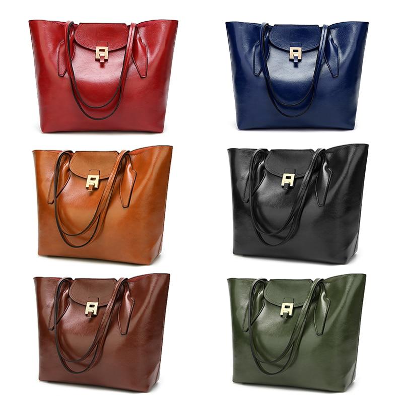 b6ae0e8560 Qualità Il Pu Di Wlhb1756 Handle Fashion Alta caffè Marca Olio Bag Borsa  borgogna Pelle Top Delle verde ...