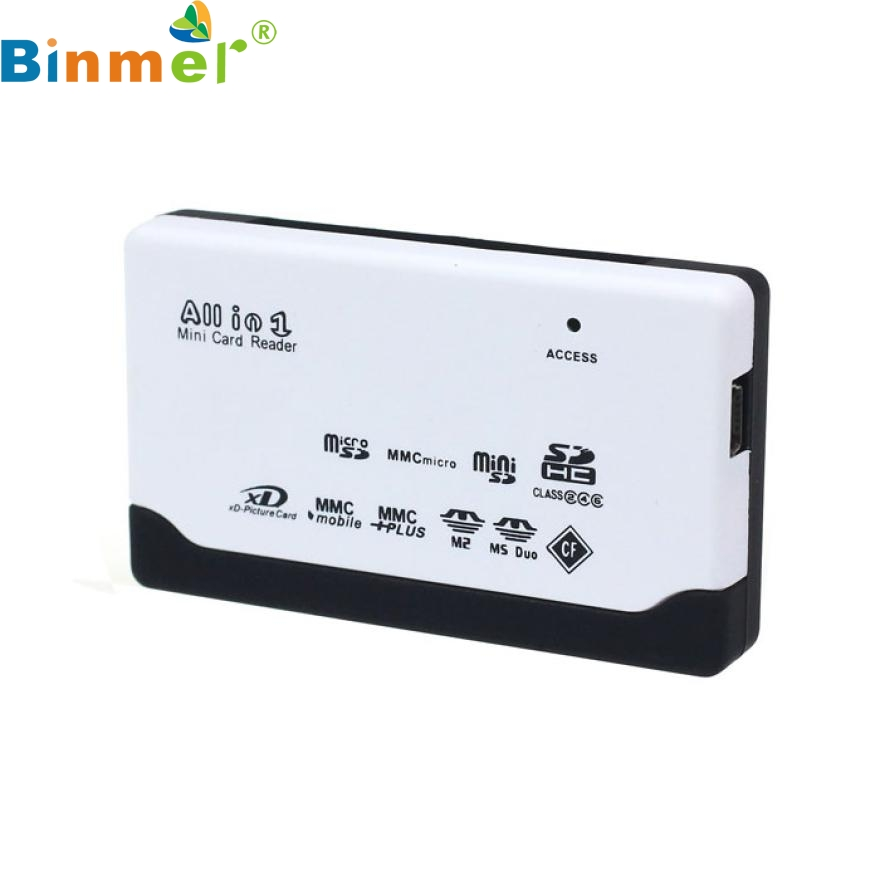 Top Quality Practical All in One USB 2.0 Card Reader for SD XD MMC MS CF SDHC TF Micro SD M2 Multi in 1 Adapter N03 slinky and fashion for micro sd sdhc tf m2 mmc ms pro duo all in 1 usb 2 0 multi memory card reader high transmission speed