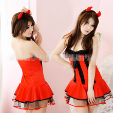Sexy Costumes 2017 Female Disfraces Halloween Sexy Naughty Girl Cosplay Costumes Devil and Demon Role Play Dress Europe Vampire sexy lingerie erotic seductive teacher cosplay costumes sexy teacher role play dress erotic halloween costumes