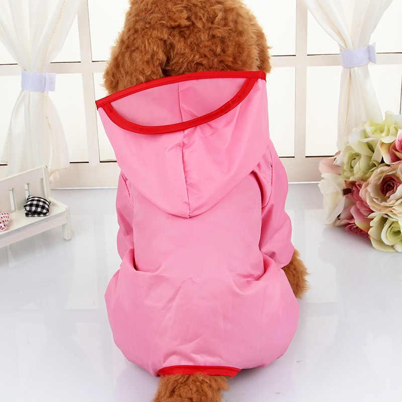 מותג סלעית בגדים עמיד למים לחיות מחמד כלב מעילי גשם לכלבים קטנים צ 'יוואווה יורקשייר טרייר כלב מעיל גשם פונצ' ו מעיל גשם גור XS-XXL