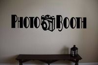 Camera Vinyl Wall Decal Quote PHOTO BOOTH Camera Mural Art Wall Sticker Movie Cinema Studio Room