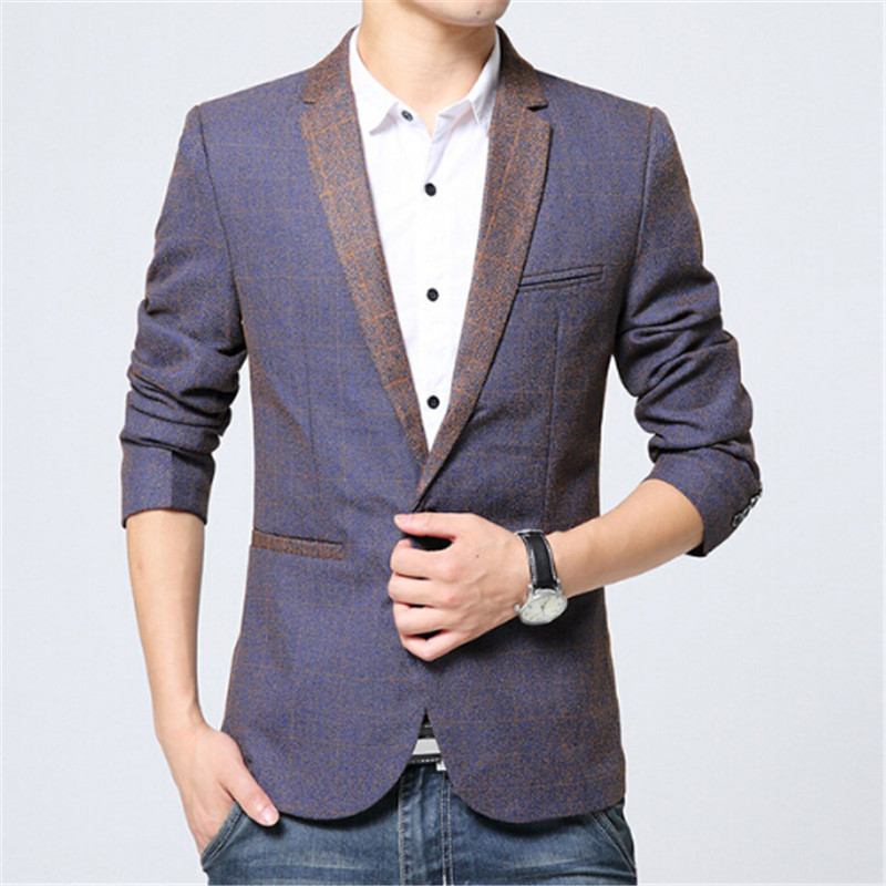 Mens Blazers Men 39 S Fashion High End Temperament Is Pure