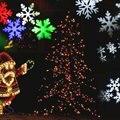 Открытый Лазерный Рождество СВЕТОДИОД Водонепроницаемый Снежинка Пейзаж Проектор для Сада, лужайки и Украшение Праздника