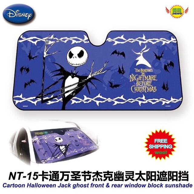 Accesorios del coche de Dibujos Animados Gato de Halloween ghost ventana delantera Cubierta UV Protegen la Película Del Coche Del Parabrisas Del Visera parasol Láminas NT-15