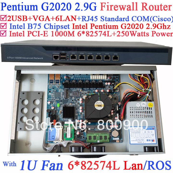gigabit ethernet router Barebone system with six intel PCI-E 1000M 82574L Gigabit LAN Intel Pentium G2020 2.9G Mikrotik ROS etc gigabit ethernet router barebone system with six intel pci e 1000m 82574l gigabit lan intel pentium g2020 2 9g mikrotik ros etc