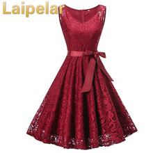 Laipelar Summer Party Dress Women 2018 Elegant Lace Dress Casual Slim Sleeveless Ball Gown Party Dresses Plus Size vestidos 3XL 2019 plus size party dresses women summer long maxi dress casual slim elegant dress bodycon female beach dresses for women 3xl