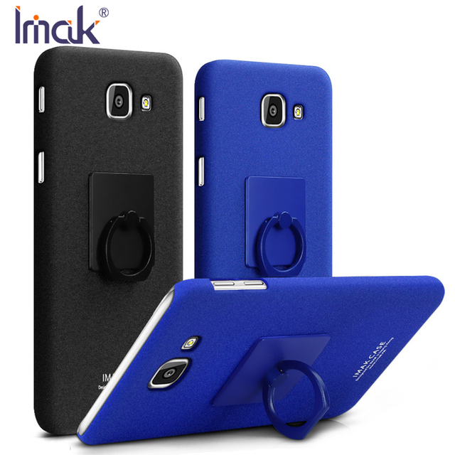 best sneakers 01465 f8b94 US $7.22 15% OFF|For Samsung Galaxy A7 2017 A720F Case Cover Original Imak  Hard PC Matte Phone Case for Galaxy A7 2017 Back Cover + Ring Holder-in ...
