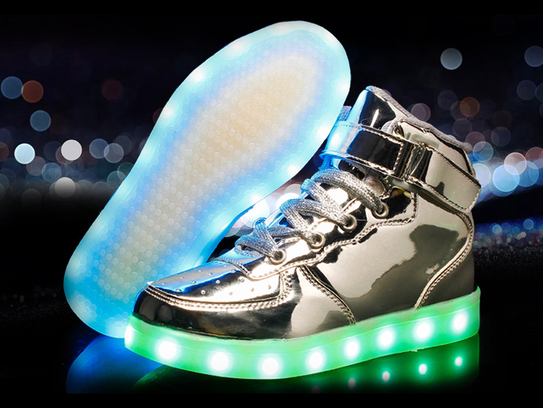 Silver Glowing Shoes