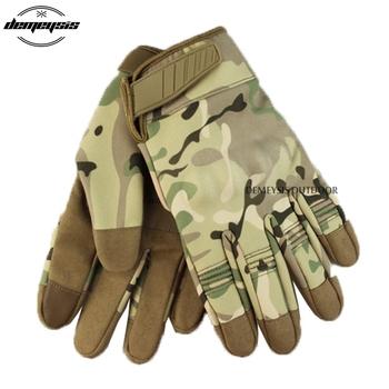 Rękawice terenowe taktyczne z pełnymi palcami do ekranów dotykowych sportowe rękawice turystyczne rękawice wojskowe Airsoft rękawice rowerowe rękawice wspinaczkowe tanie i dobre opinie demeysis nylon GL-A24-FF Sports Tactical Gloves Full Finger Hiking Gloves Touch Screen Tactical Gloves M L XL black green tan camouflage