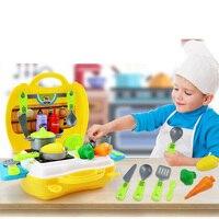 Pretend Play Kitchen Toys For Children Pretend Toy Suitcase Storage Box Children S Gift Toys For