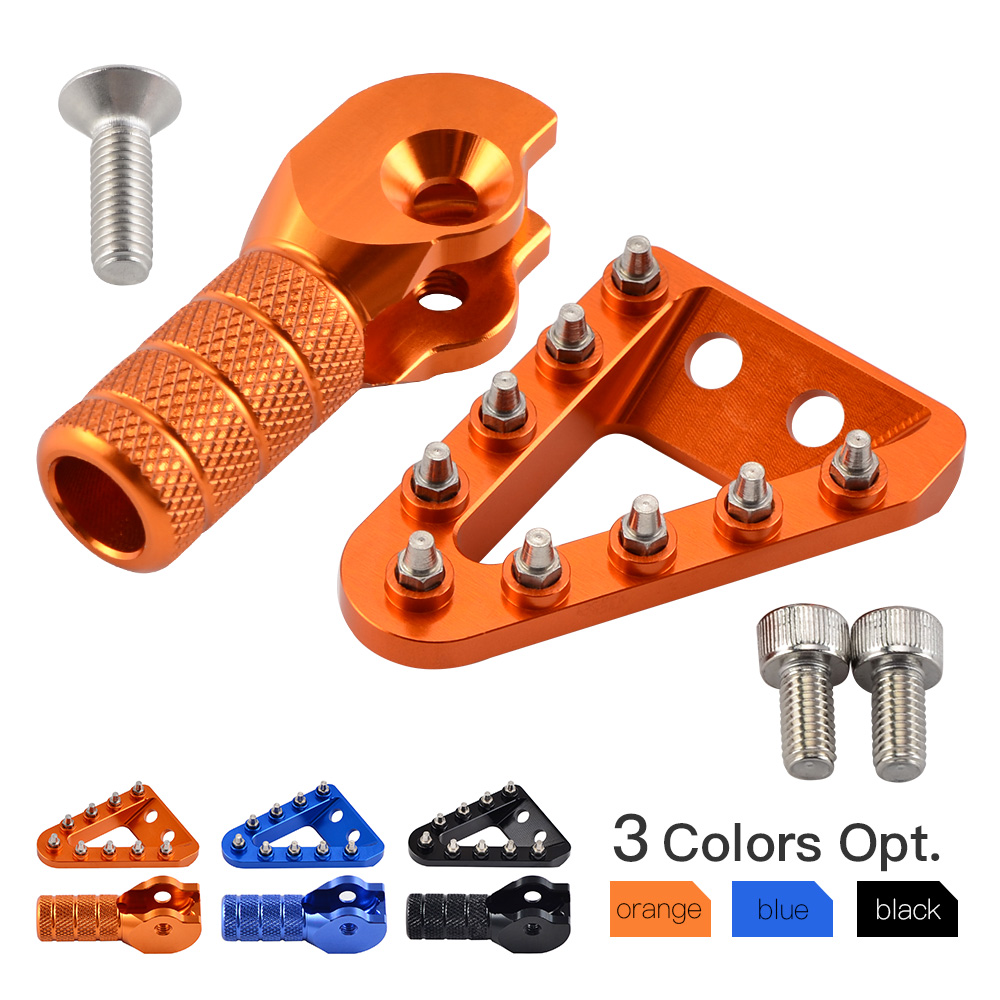 Brake Pedal Plate & Shift Lever Tip For KTM 125 150 250 300 350 400 450 500 SX SXF XC EXC XCF XCW EXC-F XCF-W SIX DAYS 2017 2018Brake Pedal Plate & Shift Lever Tip For KTM 125 150 250 300 350 400 450 500 SX SXF XC EXC XCF XCW EXC-F XCF-W SIX DAYS 2017 2018