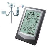 W1040 Метеостанция внутренний и наружный Измеритель температуры и влажности, измерение давления ветра осадков