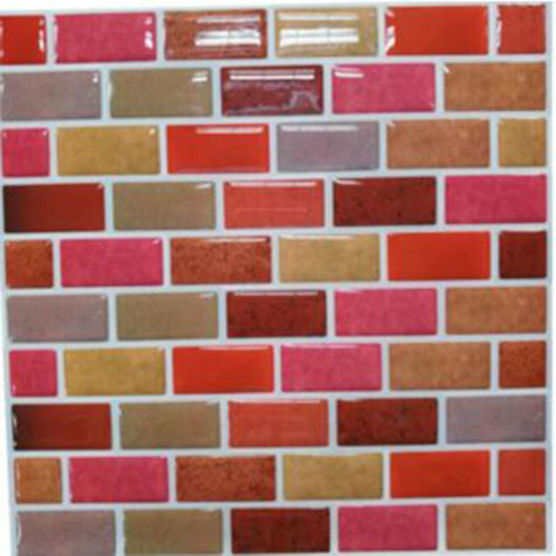 Wall Tile Anti Mold Peel And Stick Mosaic Kitchen Tile Backsplash Waterproof Removable Wall Tile