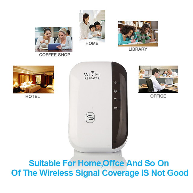 2018 Wireless WiFi Repeater Signal Amplifier 802.11N/B/G Wi-fi Range Extender 300Mbps Signal Boosters Wifi WPS Encryption Online