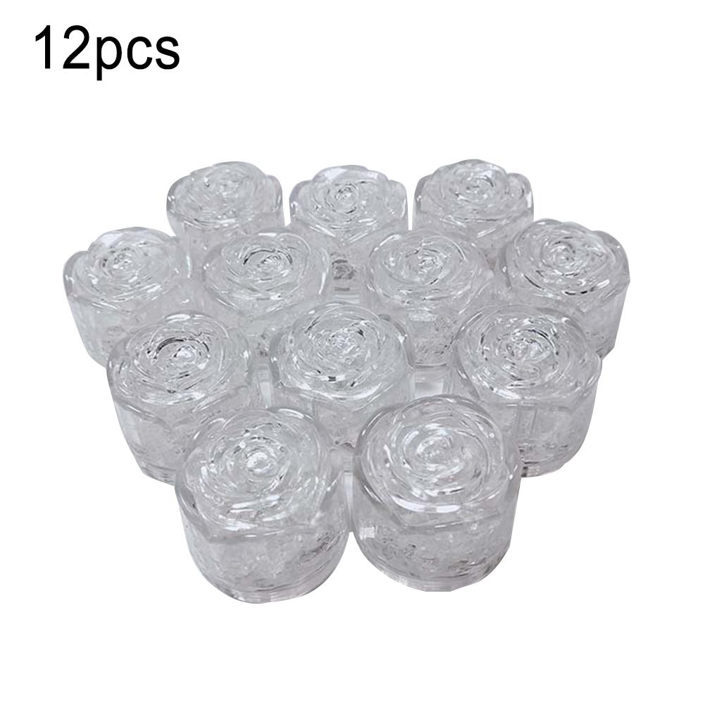 12 Pieces LED Ice Cubes Luminous Light Wine Glass Decoration Supplies For Wedding Festival Christmas Bar Party