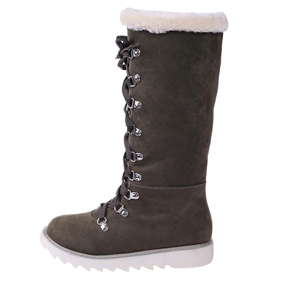 Zapatos or Botas Redondo Kadin Pie Invierno slip Encaje Nieve No De Calzado La 30 Bg Las Del Mujeres gn Dedo Plataforma Rodilla Szyadeou Mujer axgwEqOx