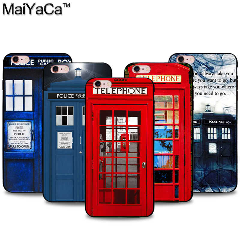 MaiYaCa London Old Fashion Booth Black Soft TPU silicone Phone Case Cover For iPhone 5 5s SE 6 6s 7 8plus X XS XR XSMax case