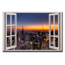 цена на Canvas Printings City night series Modern Style Cheap Pictures Decorative Wall Art Framed Prints Gift