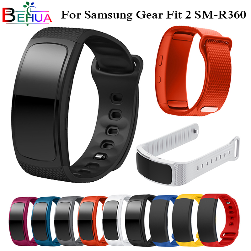 Watch Strap For Samsung Gear Fit2 Sport Silicone Watch Replacement wrist For Samsung Gear Fit 2 SM-R360 Band bracelet Wristband цена и фото