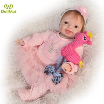 Bebes reborn Dolls Toys  55cm soft silicone reborn baby dolls realistic newborn girl dolls children toys bebe gift  rebon boneca