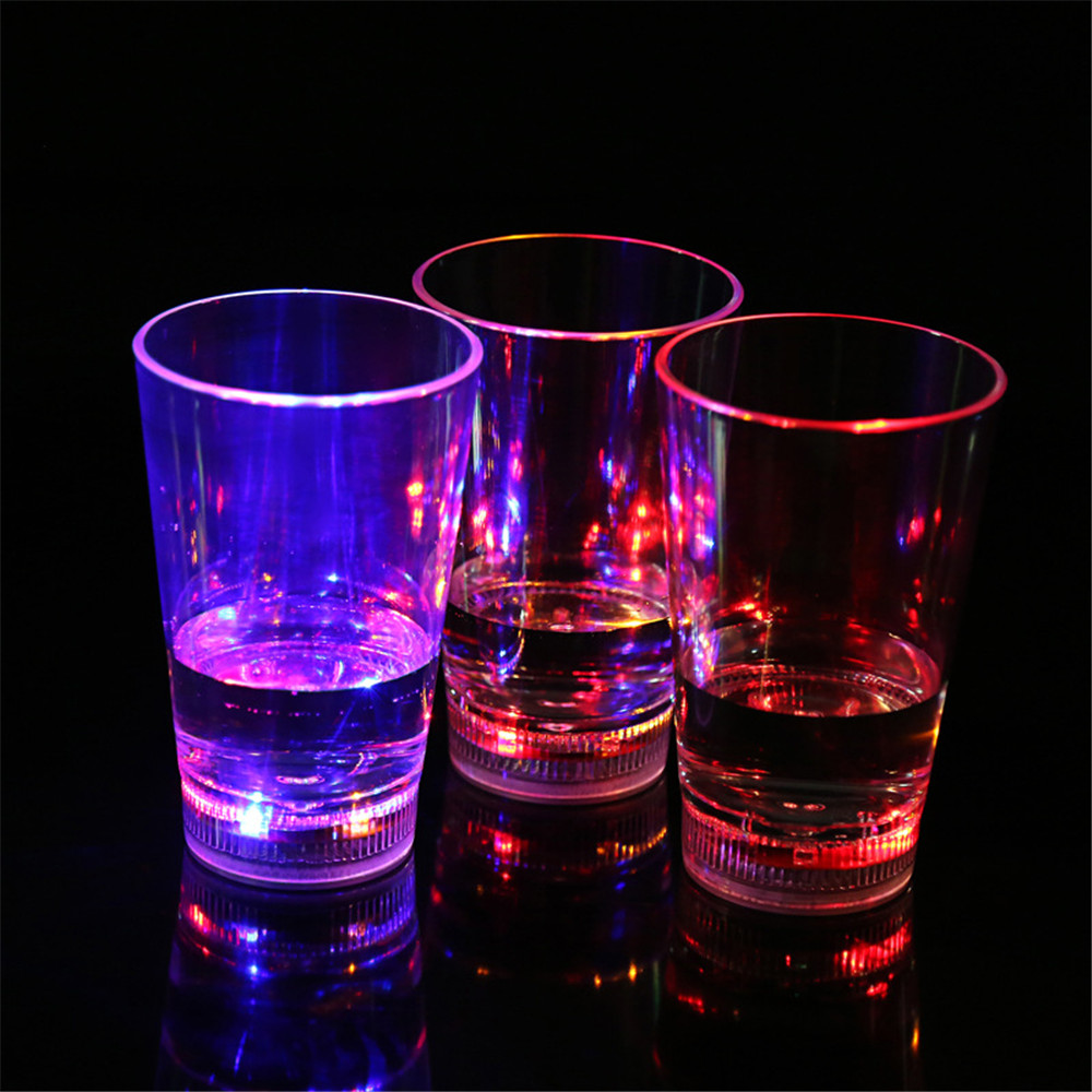 modern drinking glasses promotionshop for promotional modern  - modern fashion stylish colorful liquid active led plastic highlight juicedrink cup beer flash cups glasses for bar ktv party