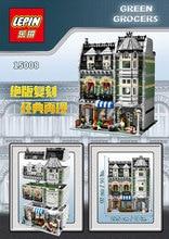 LEPIN 15008 2462Pcs City Street Creator Green Grocer Model Building Kit figure Blocks Bricks Toy Gift