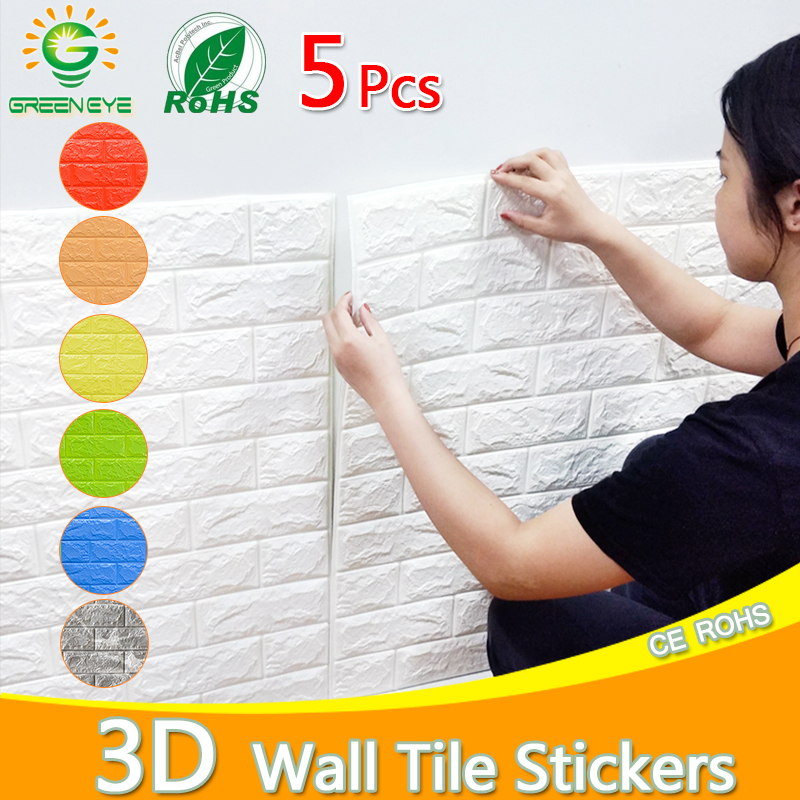 Wall paper 3D Marble Mosaic Peel and Self-adhesive Wall Stickers Waterproof Kitchen Bathroom Home Wall Decal Sticker 1pc/5pcs image