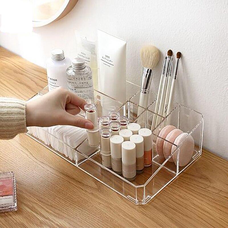 LARGE Acrylic Makeup Organizer Office Organizer Box Cosmetic Plastic Storage Box Desk Bathroom Cosmetic Storage Case