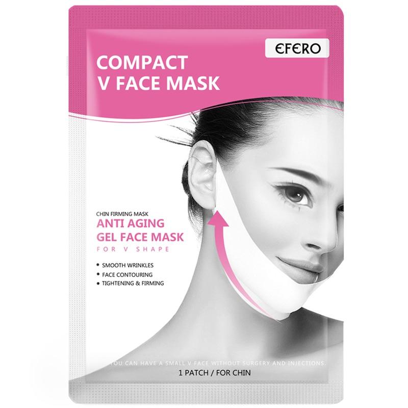 3 pièces EFERO Levage Masques Visage En Forme de V Mince Menton Vérifier Lifting Du Cou Masque Peel-off V Shaper Visage Minceur Bandage Soins De La Peau