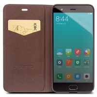 QIALINO Business Style Case For Xiaomi 6 Handmade Genuine Leather Wallet Flip Bag Cover For Xiaomi