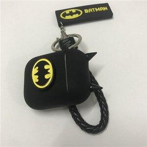 Image 4 - Hot Batman The Dark Knight Auricolare Custodie Per Apple Airpods Auricolare Senza Fili di Bluetooth Della Copertura Del Silicone Per Laria baccelli 2 Accessori