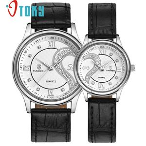 1 Pair2pc Best Gift Watches For Lovers Ultrathin Genuine Leather Romantic Fashion Couple Wrist Watches