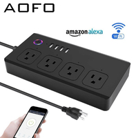 Smart WiFi Power Strip:Compatible with Alexa,Google Assistant,Free App Control,Wireless Timer,No Hub Required,for Smart Home