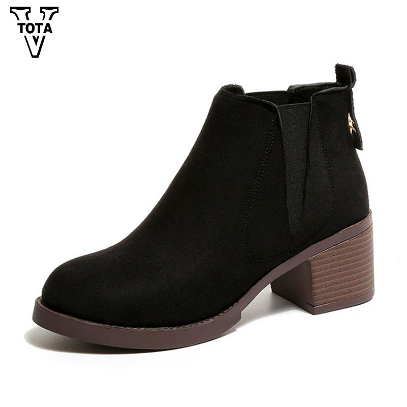 VTOTA 2017 Fashion Autumn Female Boot Winter Warm Platform Martin Boos Ladies' Snow Ankle Boots Women Botas Mujer Lady Shoes FC1 platform boots autumn ankle boots for women luxury sexy martin boots botas femininas de inverno botines mujer 2017 ladies shoes