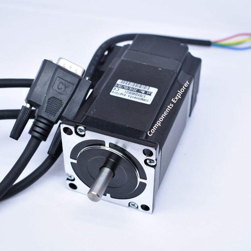 NEMA23 57 moteur pas à pas en boucle fermée 57BYGH80EC1 couple 2N moteur pas à pas haute vitesse avec encodeur de ligne 1000 - 3