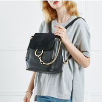 2017 New Women Bag Double Shoulder Bag Famous Designer Female Ring Zipper Cute Girl Lovely Bag