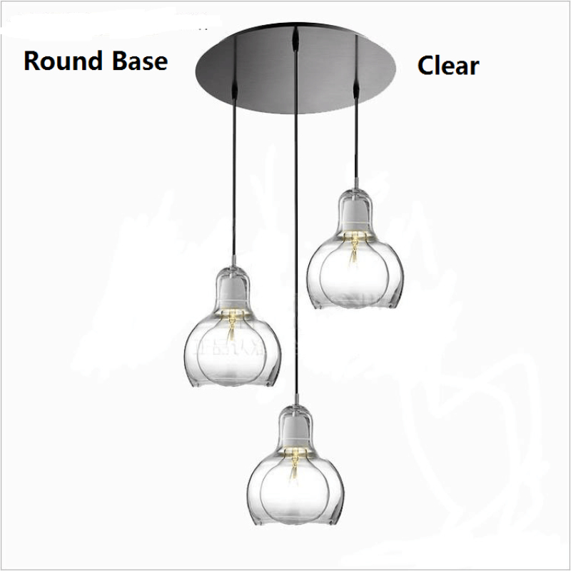 Modern Dining Room Pendant Light Big Bulb Glass Abajur Pendant Lamp For Living Room Bedroom Nordic American lampe Christmas black iron lampshade abajur diameter 38cm big home light dining room kitchen pendant light pendant lamp e27 e26 bulb fitting