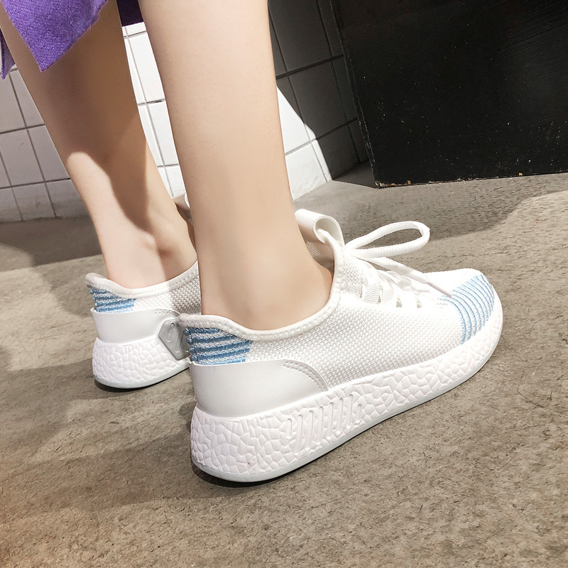 2019 New Fashion Women Running Shoes Breathable Mesh Sneakers Woman Sports Shoes Hot Sale Shoes White Sneakers Good Quality