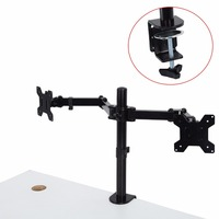 Desktop Clamping 13 27 inch 8KG Dual Arm Desk Mount Bracket For LCD Computer Monitor Stand Screen TV