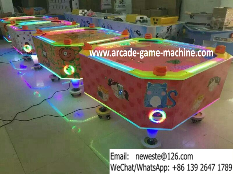 4 players amusement equipment square air hockey table game for Table games for adults