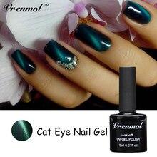 Vrenmol магнит кошачий глаз Цвета Гель-лак для ногтей Светодиодный УФ-лак гель стойкий 8 мл Гель-лак для ногтей