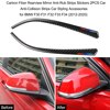 Carbon Fiber Headlight Eyebrows Rearview Mirror Anti-Rub Strips Stickers Cover Exterior Decoration for BMW F30 F31 F32 F33 F34 review