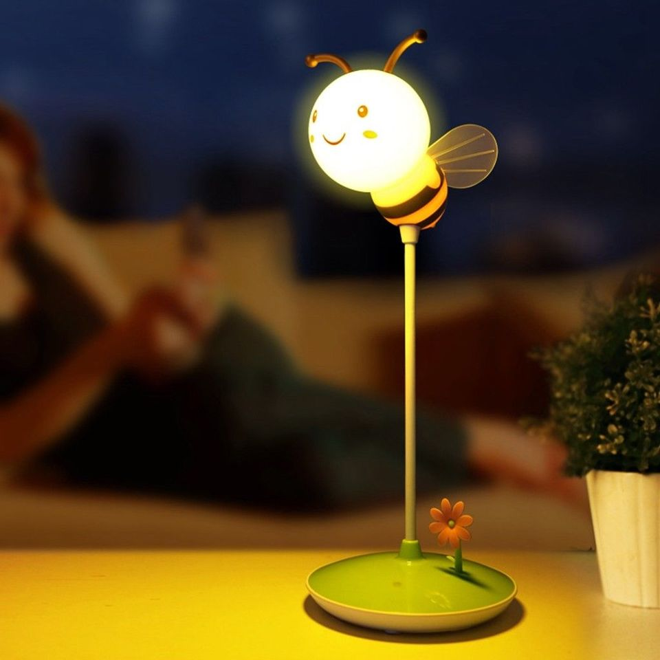 US $24.24 24% OFFUSB chargeable Bee Touch Sensor Cordless LED Desk Table  Reading Lamp Cute NightLight Touching Dimmable Baby Sleeping CreativeLED