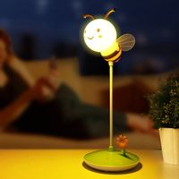 USB chargeable Bee Touch Sensor Cordless LED Desk Table Reading Lamp Cute NightLight Touching Dimmable Baby Sleeping Creative
